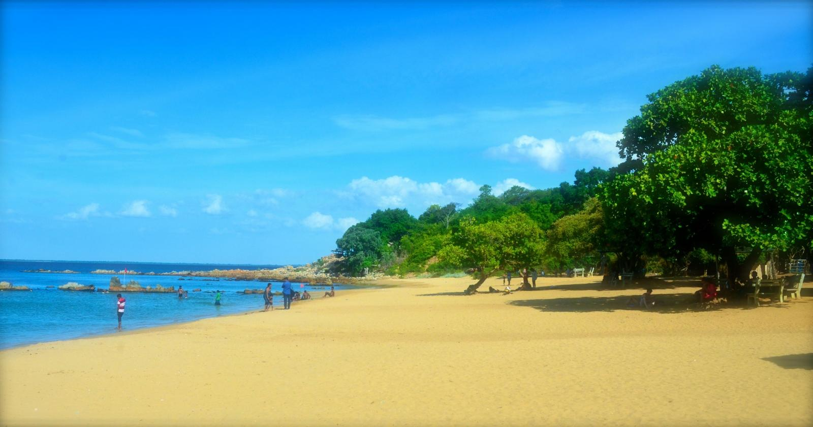 A scenic view of Marble Beach in Sri Lanka where volunteers can spend their free time